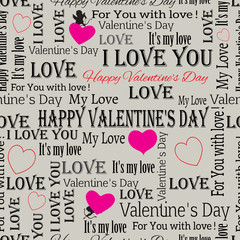 background to the Valentines Day. vintage. Set 6. Vector