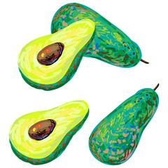 Ripe avocado