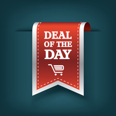 Deal of the day vertical ribbon bookmark tag element for sales