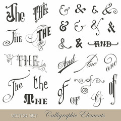 Calligraphic Ands and Thes - for design and scrapbook
