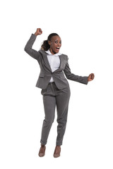 Victorious female executive