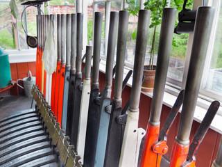signalbox levers