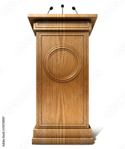 Press Conference Podium - 76759897