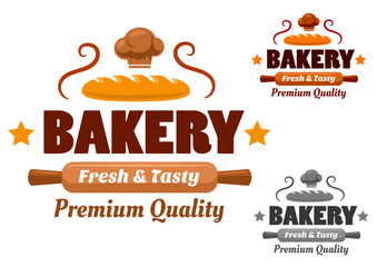 Fresh and Tasty brown bakery emblem