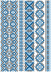 Ethnic embroidery patterns and borders