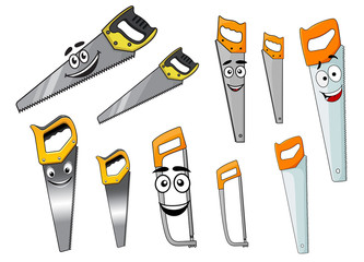 Cute cartoon hand saw tools