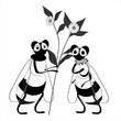 Obrazy na płótnie, fototapety, zdjęcia, fotoobrazy drukowane : due api con una margherita