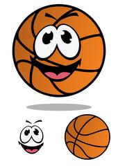 Cartoon basketball ball character for mascot design