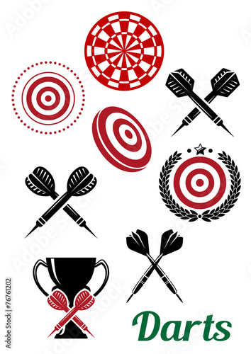 Darts sporting red and black elements - 76761202