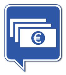 Logo billets. Monnaie.