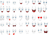 Cartoon of various face expressions