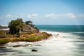 Tanah lot temple in long exposure, Bali