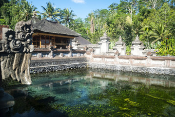 Tirta empul temple with sacred water pool, Bali, Indonesia