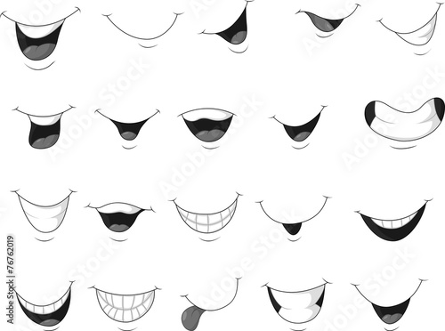 Set of smiling mouth - 76762019