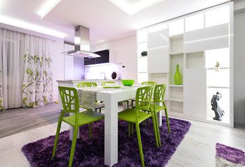 Urban apartment Kitchen dining table