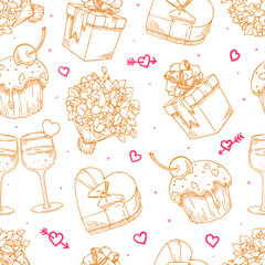 seamless background for Valentine's Day