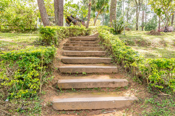 Ground or clay stair