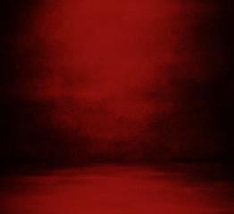 Innenraum mit roter Mauer