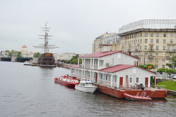 Embankment of Neva River.
