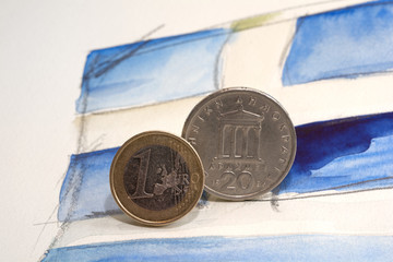 Euro and Drachma