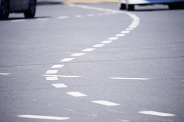 Curvey lanes in city