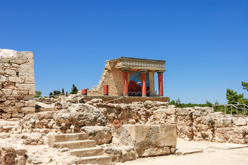 Knossos Palace scenic view