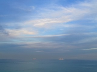 Cruise ships on the ocean