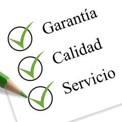 garantía, calidad y servicio