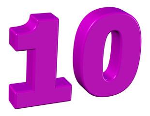 pembe renkli 10 sayısı