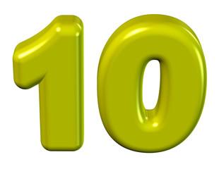 sarı renkli 10 sayısı
