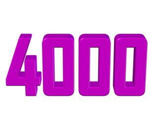 pembe renkli 4000