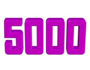 pembe renkli 5000