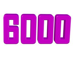 pembe renkli 6000