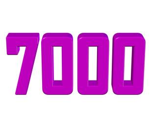 pembe renkli 7000