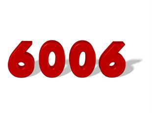 kırmızı renkli 6006 sayısı