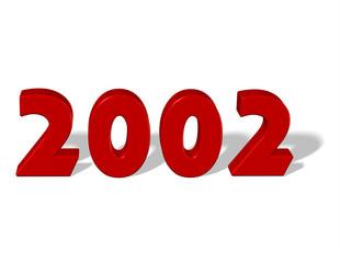 kırmızı renkli 2002 sayısı