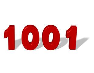 kırmızı renkli 1001 sayısı