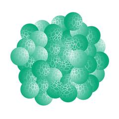 Ball of molecules
