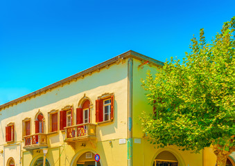 old italian style building at Kos island in Greece