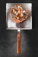 お好み焼き 日本風ピザ 食べ物