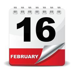 16 FEBRUARY ICON