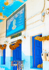 traditional very old sponges shop at Kalymnos island in Greece