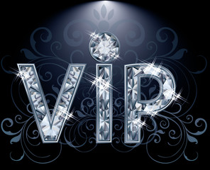 VIP Diamond card, vector illustration