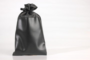 Black  bag packaging isolated