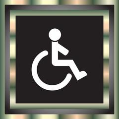 wheelchair vector icon