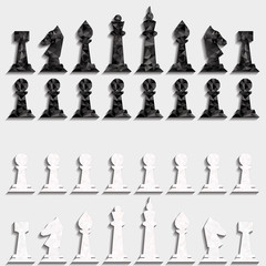 Chess of triangles