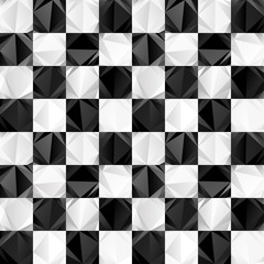 Seamless checkerboard of triangles pattern
