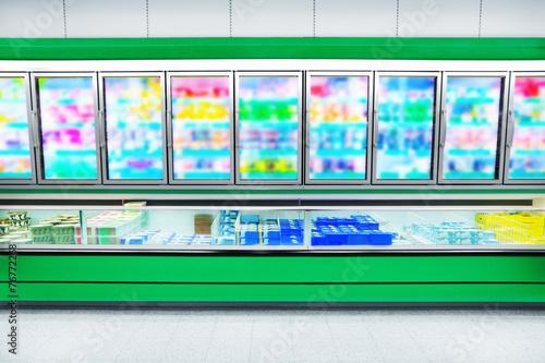 Fotobehang Boodschappen Foods in a supermarket