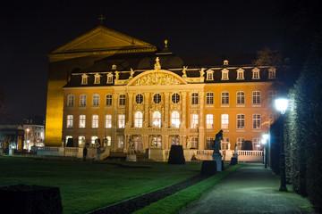 palais trier gemany at night