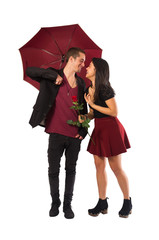 Couple and Umbrella